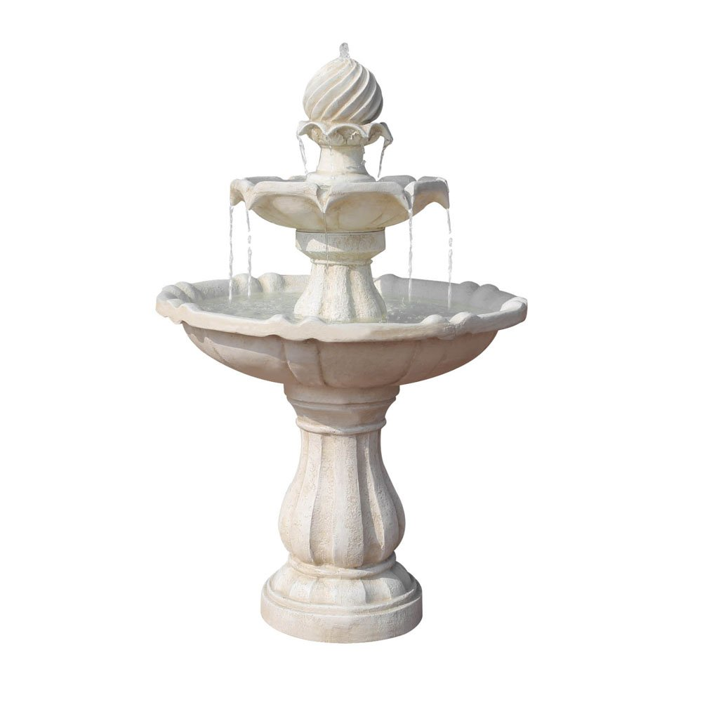 Water Fountain 3 Tier Solar Powered Ivory Green Thumb Shop