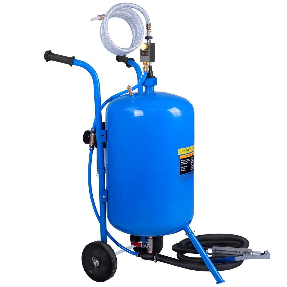 Portable Soda/Sand Blaster 100LB - Blue