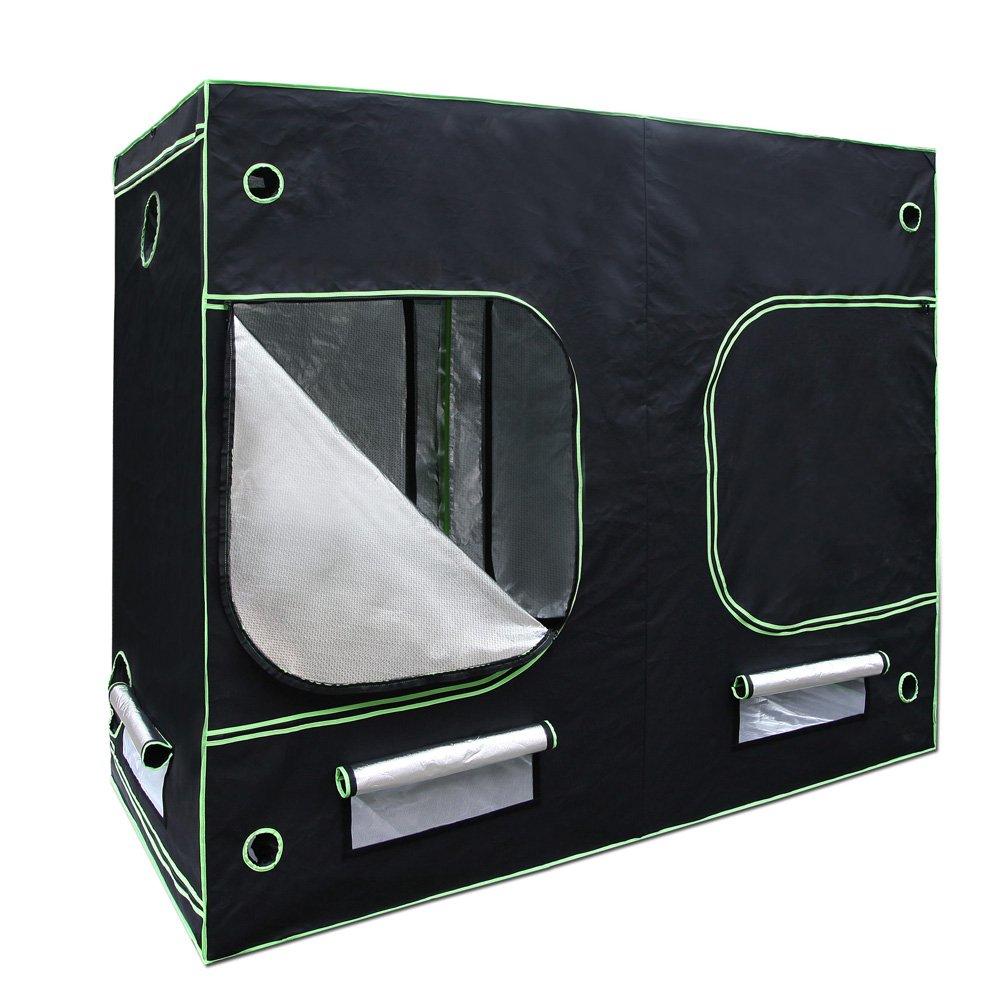 Hydroponic Grow Tent 1680d 2 4m X 1 2m X 2m Green Thumb Shop